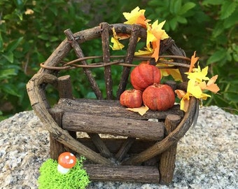 Fall Fairy Bench, rustic twig bench