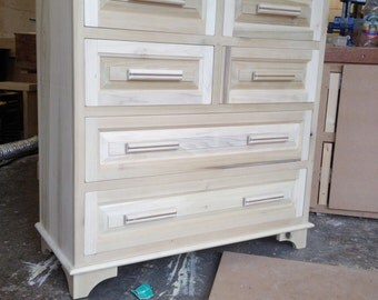 Solid Tulup Wood chest of drawers