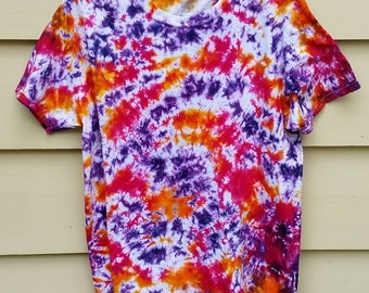 Crinkle Tie Dye - Orange Magenta Purple - Men's Size L