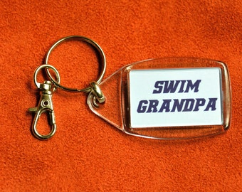 Swim Grandpa Keychain