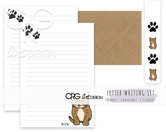 Cat Letter Writing Set | Snailmail Penpals Stationery