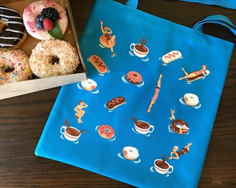 Donut Diver Tote