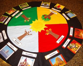 Around the Sun and Seasons Work--Montessori Celebration of Life--Montessori Birthday Celebration