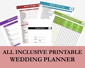 Wedding Planner Book Printable Checklist And To Do