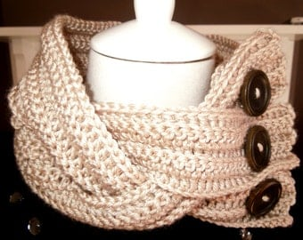 Crochet PATTERN - Neck Warmer - Quick and Easy Project, Instant Download