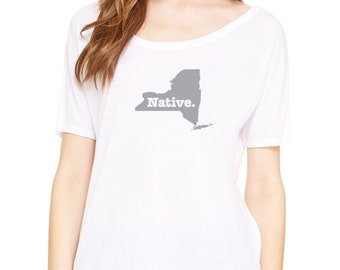 State of New York Native Borned and Raised Slouchy Tee