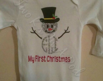 Snowman with Initials