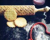 I LOVE YOU rolling pin, embossing rolling pin, engraved rolling pin by laser