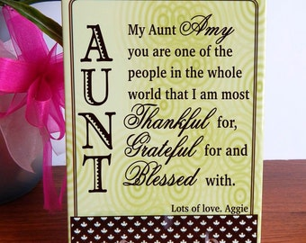 Aunt Gift,Gift for Aunt, Aunt Appreciation, Thank you Aunt Gift, Aunt Birthday Gift,Special Aunt Gift, Great Aunt Gift, Custom Aunt Gift