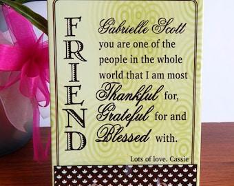 FRIENDS Appreciation Custom Gift,Friend like a Sister BFF Gift,Long Distance Friend,Thanks You my Best Friend Gift,Special Friend Gift