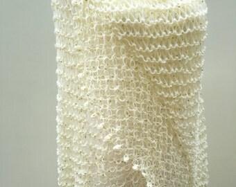 Crem Color Wedding Shawl, Wedding Shrug,Bridal Shawl,Shoulder Shawl ,Bridal Accessories,Bridal Cover Up,Bridemaids Shawl,Knit Shawl.