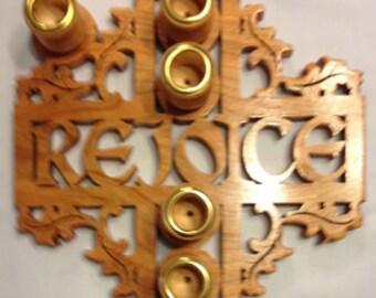 Rejoice Advent Wreath - Cherry