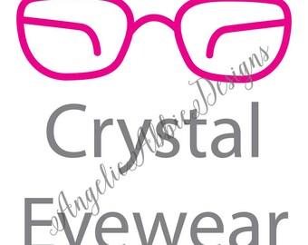 CRYSTAL EYEWEAR | Eyeglasses Customized Logo