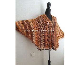 PATR1085 - Xyra Crochet-pattern - Poncho with sleeves / sweater / shirt / swoncho - (Dutch & English-US)