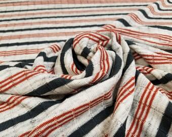 Navy/Orange Sweater Knit P/R/L