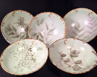 Set of ( 5 ) Antique Haviland Limoges Bowls