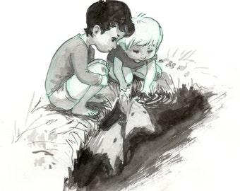Fox Children Mini Print