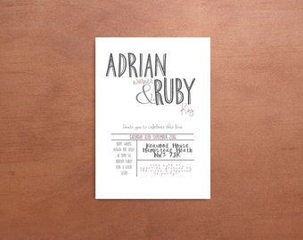 Personalised Simple Calligraphy Graphic Wedding Suite