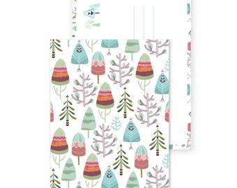 Winter trees - postcard