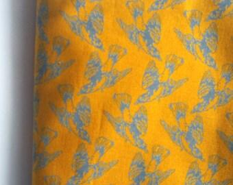 Yellow blue pocket square. Bird pocket square