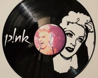 P!nk Vinyl Vinyl Record Wall Art