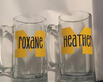 Personalized Michigan Beer Mug