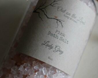 Himalayan Pink Bath Salt Fresh 8oz Handmade Organic Vegan