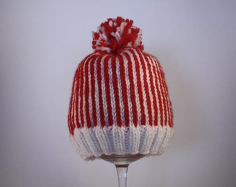 Tis' the Season - Red and White Baby Hat - Baby Hat - Holiday Baby Hat - Christmas Baby Hat