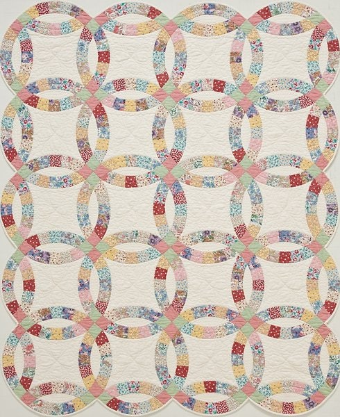 Quilt In A Box Double Wedding Ring Pre Cut Quilt Kit 1930s