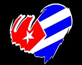 Cuban Heart | Corazon Cuba sticker