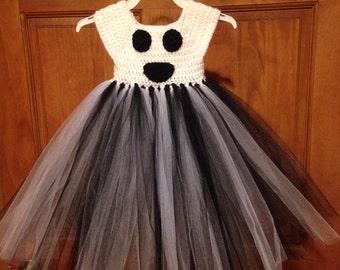 Crochet Top Ghost Tutu Dress