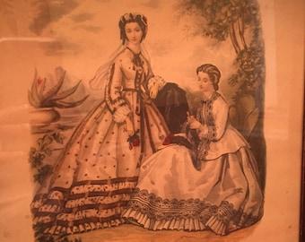 A Vintage La Mode Illustree print in a gorgeous shadow frame!