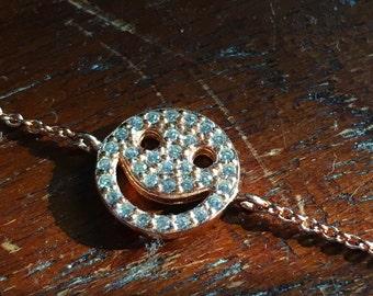 Smiley Face Bracelets Cz 925 / Sterling Silver