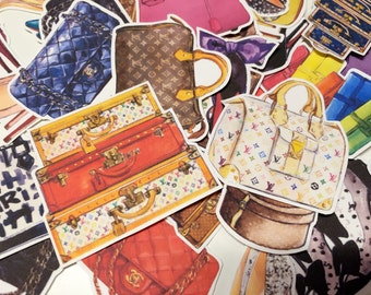 Planner Luggage Stickers - luxury handbags and high heels Inspired