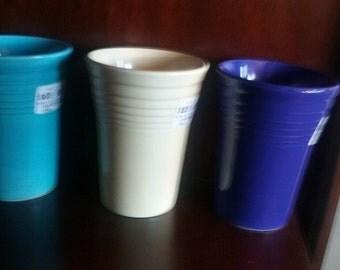 Original Fiesta Fiestaware water tumbler cup ivory homer laughlin hlc