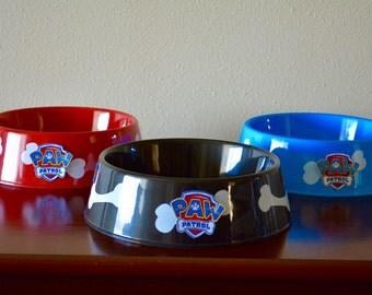 Paw patrol theme dog bowls, set of 3