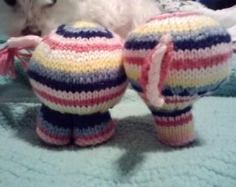 Hand Knit Elephant