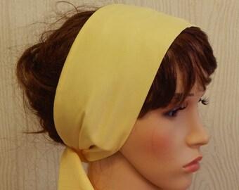 Yellow Head Scarf, Long Headscarf, Beautiful Hair Scarf, Fashion Summer Hair Wrap, Bandana Head Covering, Stylish Head Wrap