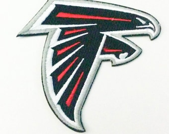 "Atlanta Falcons Logo Iron On Patch 3 1/4"" x 3 1/4"" Football Logo Sewn On or Iron On Free Shipping"