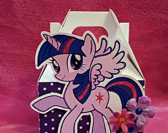 My little Pony Mini Favor Boxes Mini Gable BOXES My little Pony  favors Set of 10