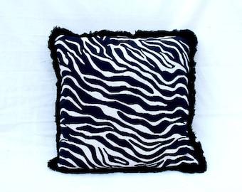 Black and White Zebra Cushion