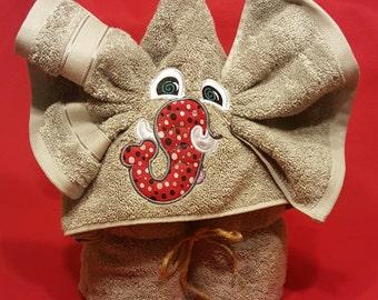Elephant Hooded Towel- Children's Hooded Towel-Alabama