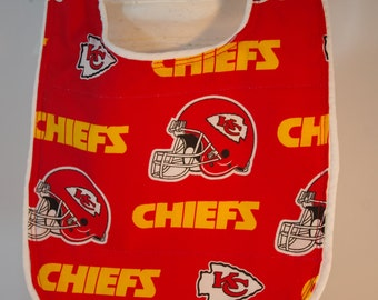 Bib KC Chiefs football terry cloth snap closure quilted NFL