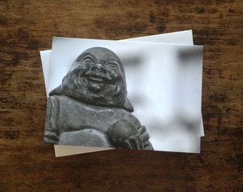 Laughing Buddha note card