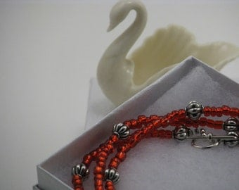 Cherry Red Single Strand Necklace