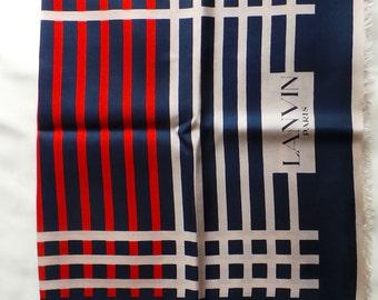 Silk vintage Lanvin scarf 42 x 140 cm