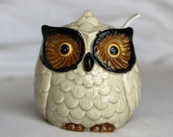 Vintage Owl Jam Jar