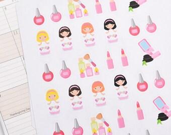30 Spa Stickers, Spa Planner Stickers, Spa Erin Planner Stickers