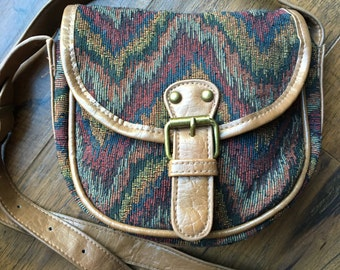 Vintage purse satchel/handbag tribal print colors