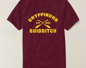 Gryffindor Quidditch Harry Potter  Unisex tshirt tumblr pinterest clothing harry potter fan – Size S M L XL